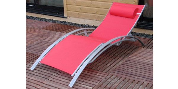 Sun lounger red buy sun lounger red - Destockage bain de soleil ...