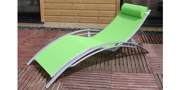Sun lounger green buy sun lounger green - Destockage bain de soleil ...