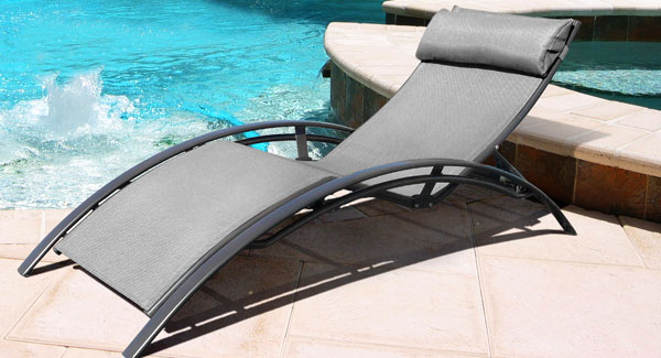 Design sun lounge chair grey buy design sun lounge - Chaise longue exterieur ...