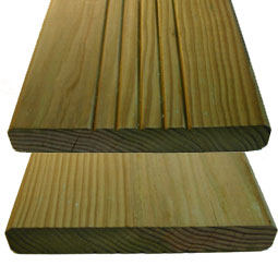 Decking � Treated pine class IV small or no knots