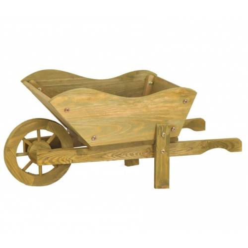 Wooden Wheel Barrels: Decorative Wooden Wheelbarrow : Buy Decorative Wooden