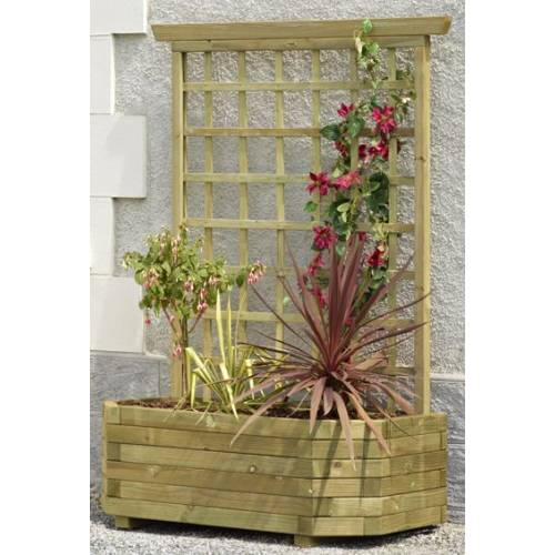 Wall Wooden Planter 130 Trellis Buy Wall Wooden Planter 130