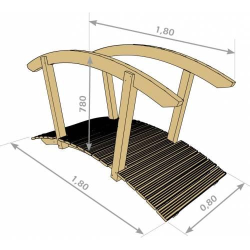 Japanese style wooden bridge buy japanese style wooden for Japanese style bridge
