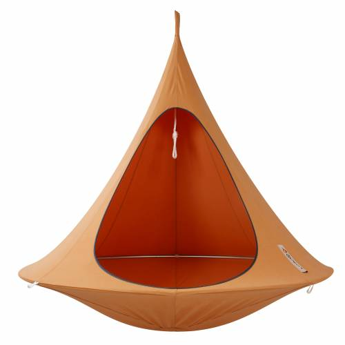 Suspended hammock double cacoon orange buy suspended - Hamac chaise suspendu ...