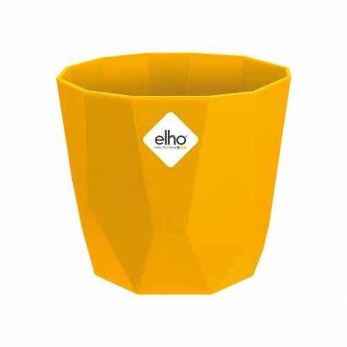 Cachepot B. for Rock - D.14cm - Ochre - Elho : buy Cachepot B. for ...