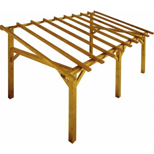 lean to wood pergola 5 x 3 m sherwood buy lean to wood. Black Bedroom Furniture Sets. Home Design Ideas