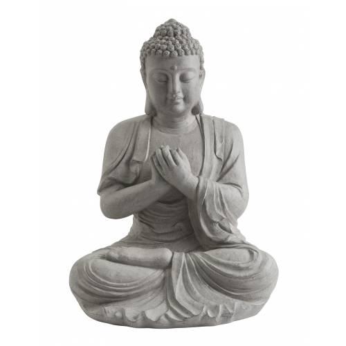 Garden statue zen buddha height 60 cm buy garden for Objet deco jardin zen