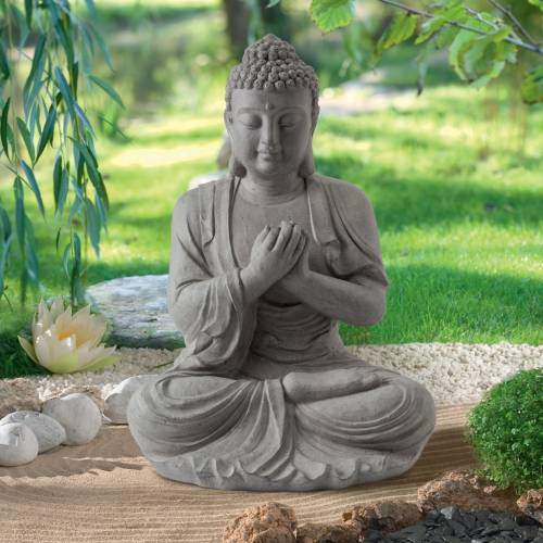 Garden statue zen buddha height 60 cm buy garden for Statue deco jardin