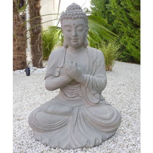 garden statue zen buddha height 60 cm buy garden. Black Bedroom Furniture Sets. Home Design Ideas