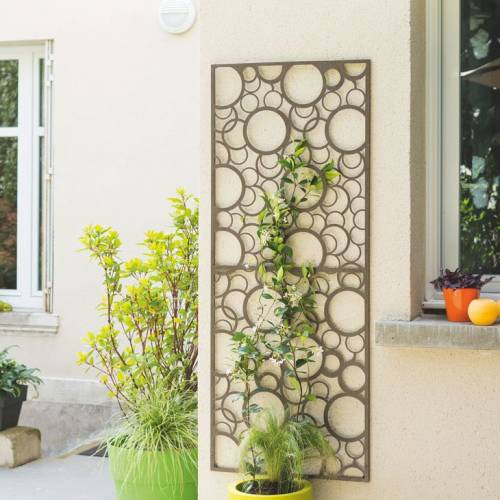 Decorative Trellis in Metal Circle 0 6 x 1 5 m Decorative
