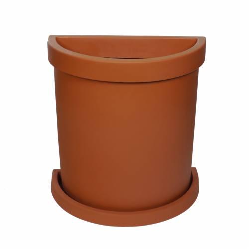 Semi-Circle Flower Pot - Terracota : buy Semi-Circle Flower Pot ...