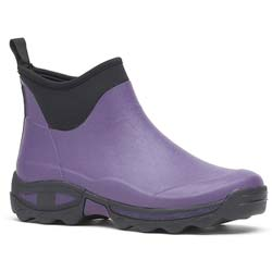 Self-cleaning ankle boots Purple