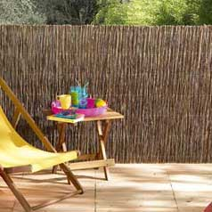 Fencing made of woven natural wicker Vimet Extra