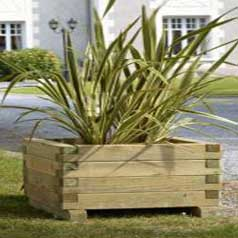 Square Wooden Planter 120