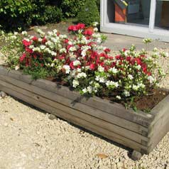 Rectangular Wooden Planter 233