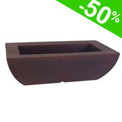 Plastic Rectangular Planter - Chocolate
