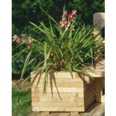 Square Wooden Planter 047