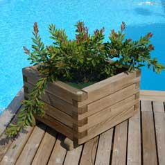 Square Wooden Planter 063
