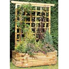 Wall Wooden Planter 130 +-Trellis