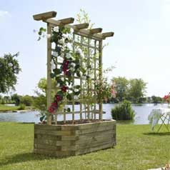 Rectangular Wooden Planter 130 +-Trellis
