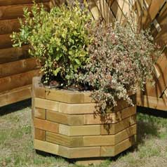 Octogonal Wooden Planter 60