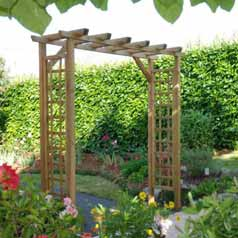 Wooden Pergola for Entrance