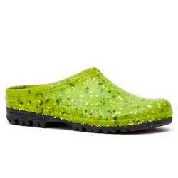 Garden clogs in rubber Apple green