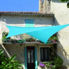 Square waterproof sun canopy - azure blue