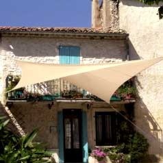 Square waterproof sun canopy - sand