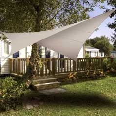 Square waterproof sun canopy - taupe
