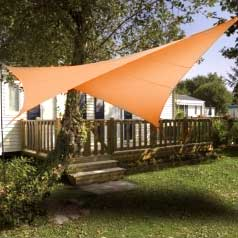 Square waterproof sun canopy - terracotta