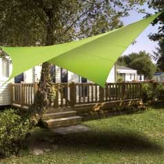 Square waterproof sun canopy - aniseed green