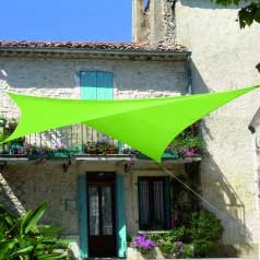 Square waterproof sun canopy - apple green
