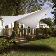Square waterproof sun canopy - white