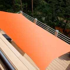 Rectangular waterproof sun canopy - terracotta