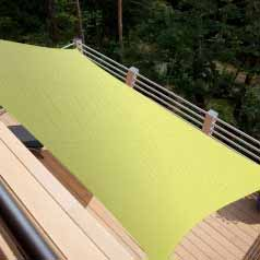 Rectangular waterproof sun canopy - aniseed green