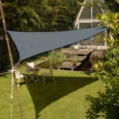 Triangular waterproof sun canopy - slate