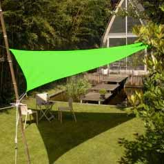 Triangular waterproof sun canopy - apple green