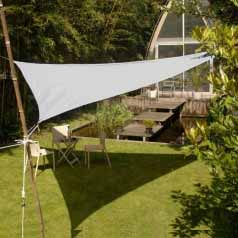 Triangular waterproof sun canopy - light grey
