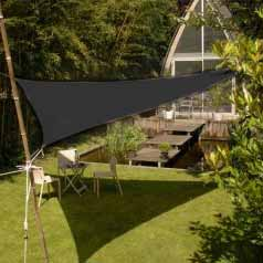 Triangular waterproof sun canopy - black