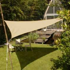 Triangular waterproof sun canopy - sand