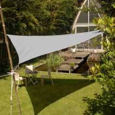 Triangular waterproof sun canopy - taupe