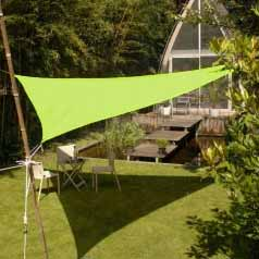 Triangular waterproof sun canopy - aniseed green
