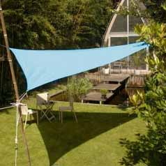 Triangular waterproof sun canopy - azure blue