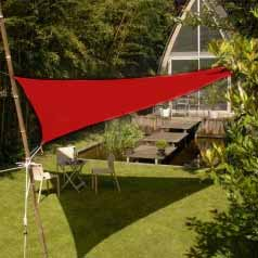 Triangular waterproof sun canopy  - bordeaux