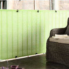 Privacy canvases for balconies Green