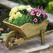 Decorative Wooden Wheelbarrow