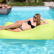 Inflatable Sun lounger WAVE – Green - Sunvibes