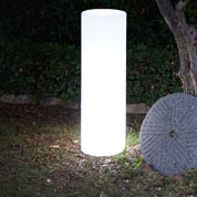 Luminous White Column mains powered - Ø35 x H110cm