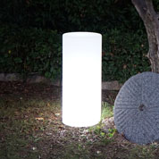 Luminous White Column mains powered - Ø35 x H38 cm